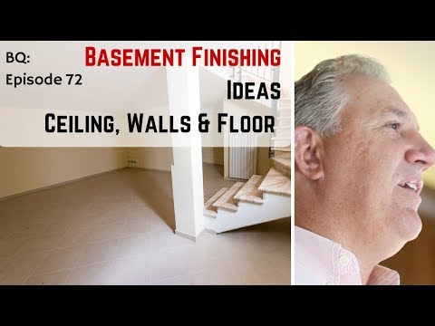 Affordable Finished Basement Ideas - 3 Tips for Walls, Ceiling & Floor