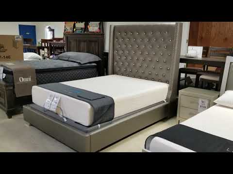 Beautiful Upholstered Bed In Stock Now!  Midwest Clearance Center