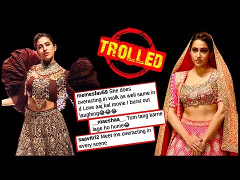 Sara Ali Khan BADLY Trolled For Her BRIDAL Rampwalk, FANS Insult Her For Love Aaj Kal