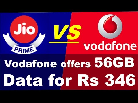 JIO PRIME  VS VODAFONE OFFER 56 GB 4G DATA AT JUST RS 346 (HINDI)