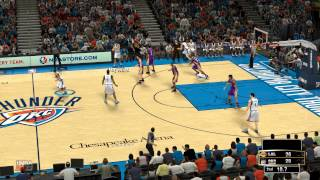 NBA 2k13 PC GAMEPLAY I7 3930k GTX 680 OKC Thunder VS LA Lakers