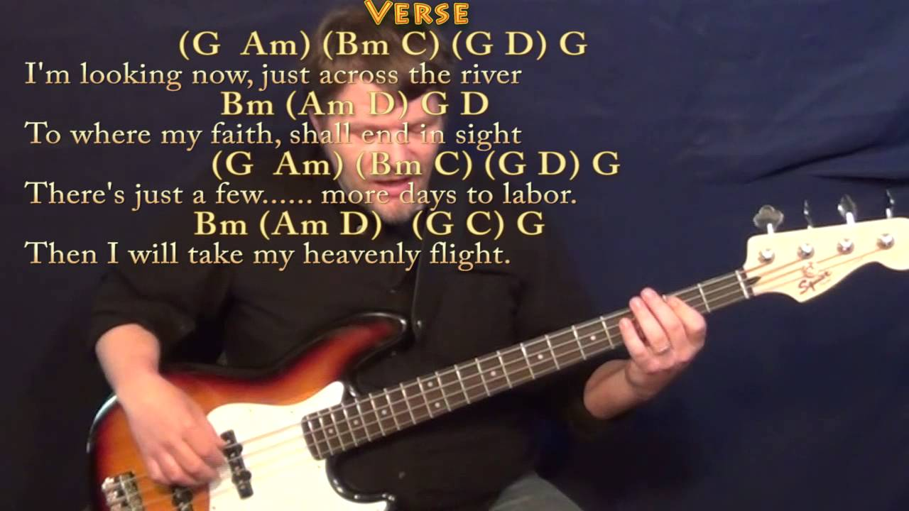 Beulah Land Squire Parsons Bass Guitar Cover Lesson In G With