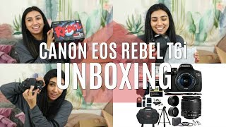 UNBOXING CANON EOS REBEL T6i Camera Bundle With Accessories