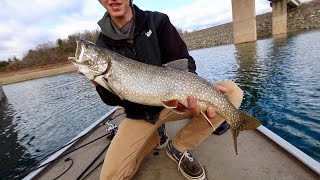 LAKE TROUT in New Jersey?!? Fishing Bladebaits in ULTRA Clear Water
