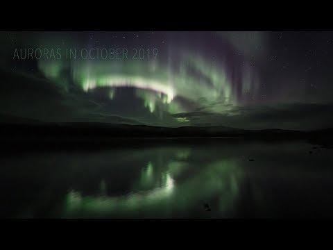 Auroras In October 2019 (Utsjoki, Finland) (4K TIMELAPSE)