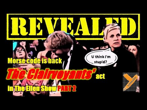 Reveal: The Clairvoyants (OLD Tricks) in The Ellen Show Part 2 2016 (Thommy & Amelie)