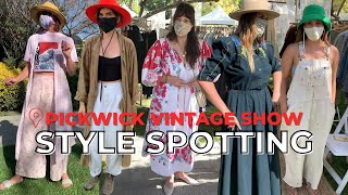 THE BEST STREET STYLE AT A LOS ANGELES VINTAGE MARKET// PICKWICK VINTAGE SHOW