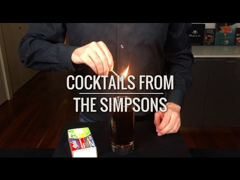 "Recreated - Cocktails from ""The Simpsons"""