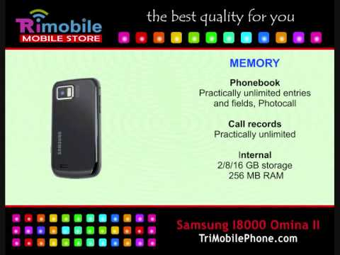 Samsung I800 Omnia II Mobile Phone Specification, Features and Slide show