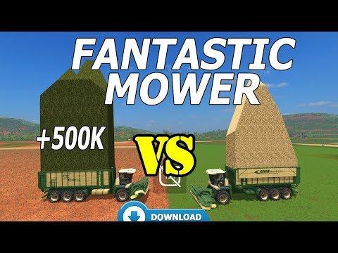 Farming Simulator 17 | VERY FANTASTIC MOWER !!! +500K CAPACITY AND +50 METERS WORK AREA  👏👏👏