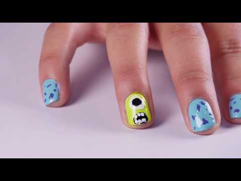 How to Make Manicure Monster Inc BellezaTv By Juan Gonzalo Angel