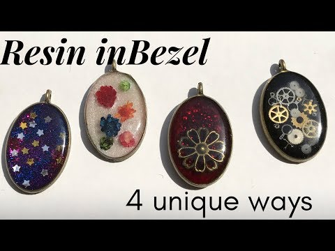 How to use Resin in Bezel | used cosmetic to color Resin | Unique Idea