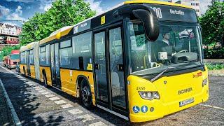 THE BUS #4: Der Wahnsinn: vorbei an SONY CENTER und PHILHARMONIE im Gelenkbus | BUS SIMULATOR 2021 screenshot 1