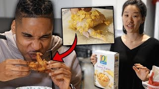 My Korean Fiancée Tries To Cook Me Soul Food! | SLICE n RICE 🍕🍚