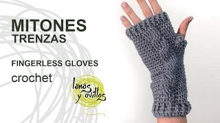 Repeat youtube video Tutorial Mitones Crochet o Ganchillo Fingerless Gloves (English subtitles)