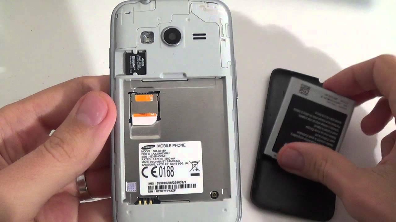 Samsung Galaxy Trend 2 Lite G318h How To Put Sim Card