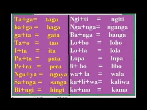 AEIOU Unang Pagbasa sa Pilipino part 4 Tutorial (First steps in Reading Filipino Part 4)