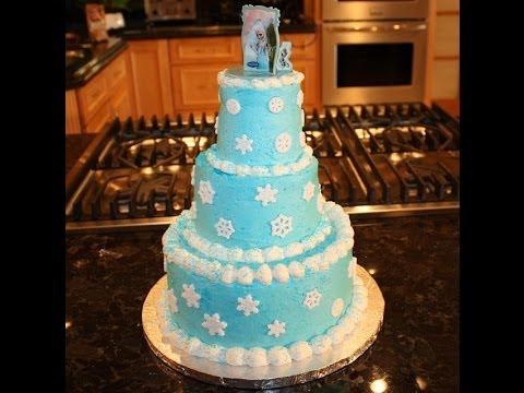 Disney Quot Frozen Quot Cake Decoration Part 2 Youtube