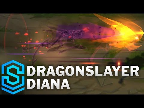 Dragonslayer Diana Skin Spotlight - League of Legends