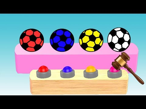 Learn Soccer Ball Colors For Kids || Nursery Rhymes || Learning Video For Children thumbnail