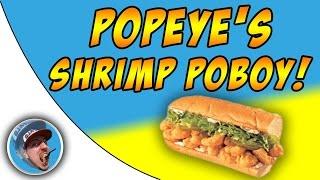 Popeyes Shrimp Poboy Sandwich!