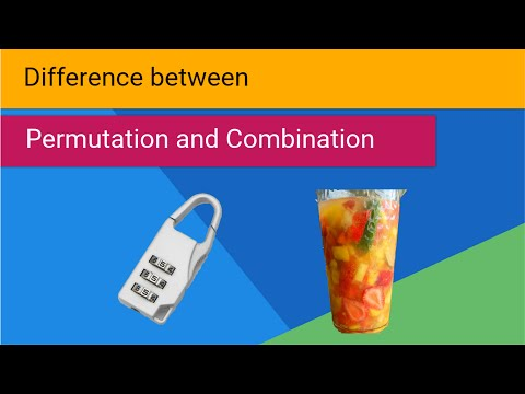 Difference between Permutation and Combination