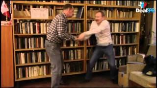 Сценка ''В библиотеке'' (DeafSPB)