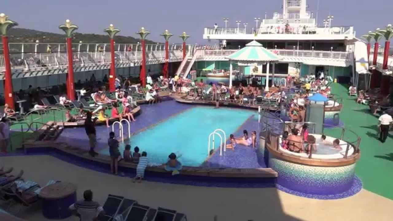 Ncl Pearl Pool Deck Daytime Youtube