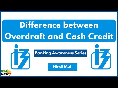Difference between Overdraft and Cash Credit