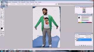 Photoshop CS2  Как поменять фон на фотографии