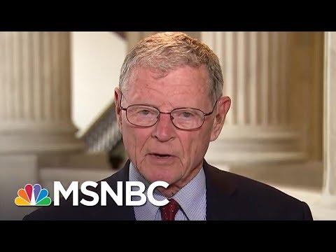 Senator James Inhofe: 'Good Idea' For U.S. To Leave Climate Agreement | MTP Daily | MSNBC