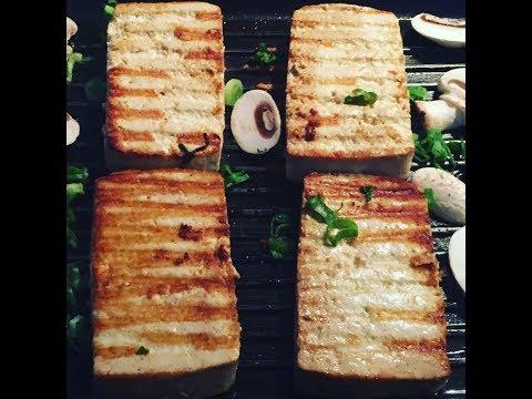 Delicioso tofu a la plancha
