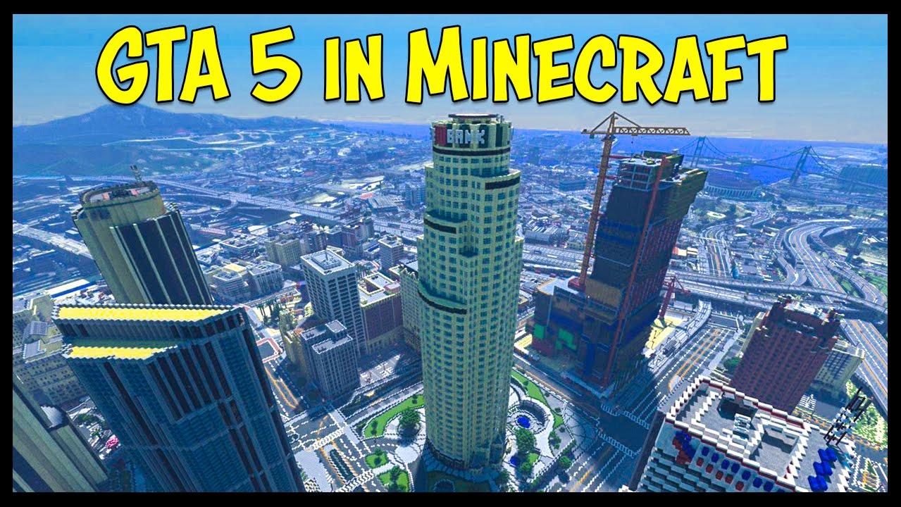 Скачать Карту на Майнкрафт ГТА 5 Город