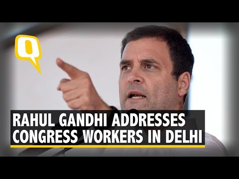 Rahul Gandhi Addresses Congress Workers in Delhi
