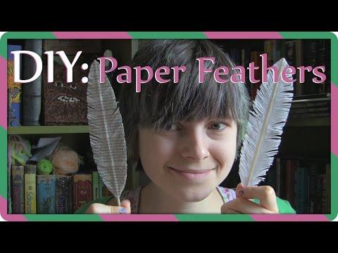 DIY | Paper feathers | Gör egna pappersfjädrar