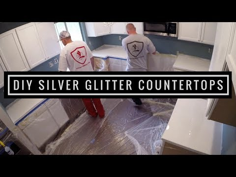 Silver Glitter Countertop Coating | Leggari Products DIY Countertop Kit