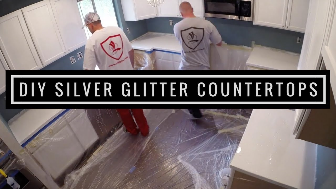 Silver Glitter Countertop Coating Leggari S Diy Kit