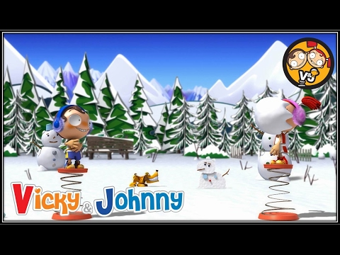 Vicky & Johnny  Episode 38  SNOWBALL FIGHT  Full Episode for Kids  2 MIN