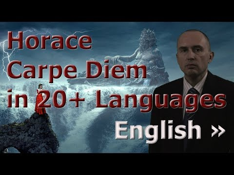 Russian Polyglot Speaks 20+ Languages in 20+ Videos about Carpe Diem by Horace (English)