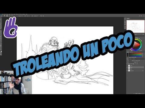 Estudios de anatomía y bocetos de un Troll - Streaming de Twitch - Dibujar Bien .com