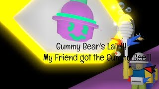 Gummy Bear's Lair!!! My Friend got The Gummy Bee!!! - ROBLOX BSS