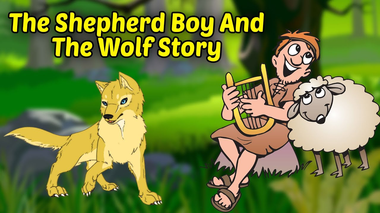 The Shepherd Boy And The Wolf Story | भागो भेड़िया आया | Hindi Moral  Stories For Kids
