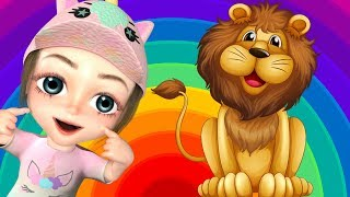 Education Video Colors Children Farm Animals Names and Lion Bear Cow Funny