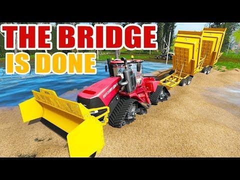 BRIDGE CONSTRUCTION - NEW QUADTRAC PUSHER & BRIDGE IS SO CLOSE TO BEING COMPLETE | FARMING SIMULATOR