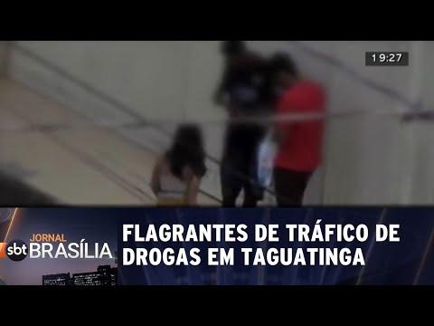 Polícia registra flagrantes de tráfico de drogas em taguatinga | Jornal SBT Brasília 07/06/2018