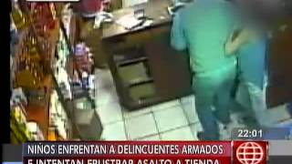América Noticias: Dos niños se enfrentaron a delincuentes armados para evitar robo de 60 mil soles