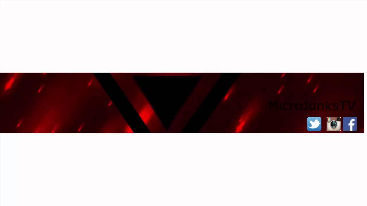 Gratis Youtube Kanal Banner Template #001 MicroJunksTv - YouTube