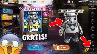 YA SALIO!! NUEVA LUCK ROYALE DE ORO *PANDA DETECTIVE*  EN FREE FIRE!!