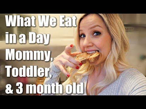 WHAT WE EAT IN A DAY: BREASTFEEDING MOMMY, TODDLER, AND BABY // BEAUTY AND THE BEASTONS 2018