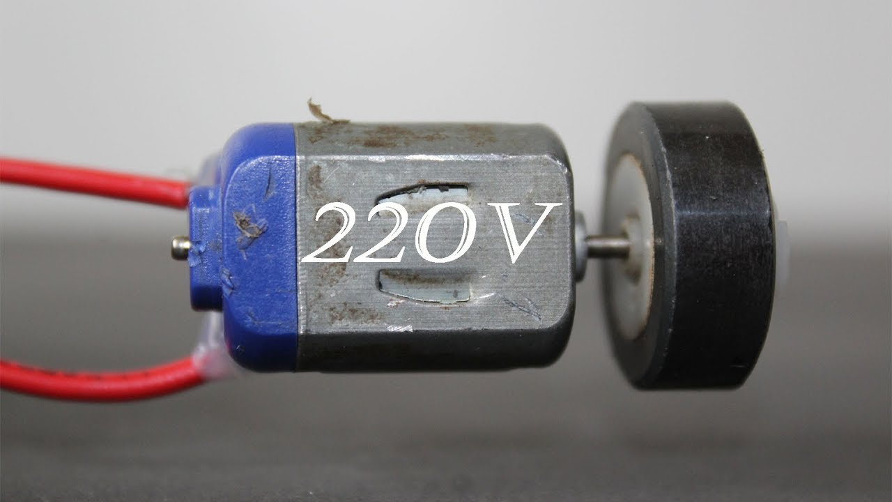 How To Make A Mini Generator 220v Using Dc Motor Youtube